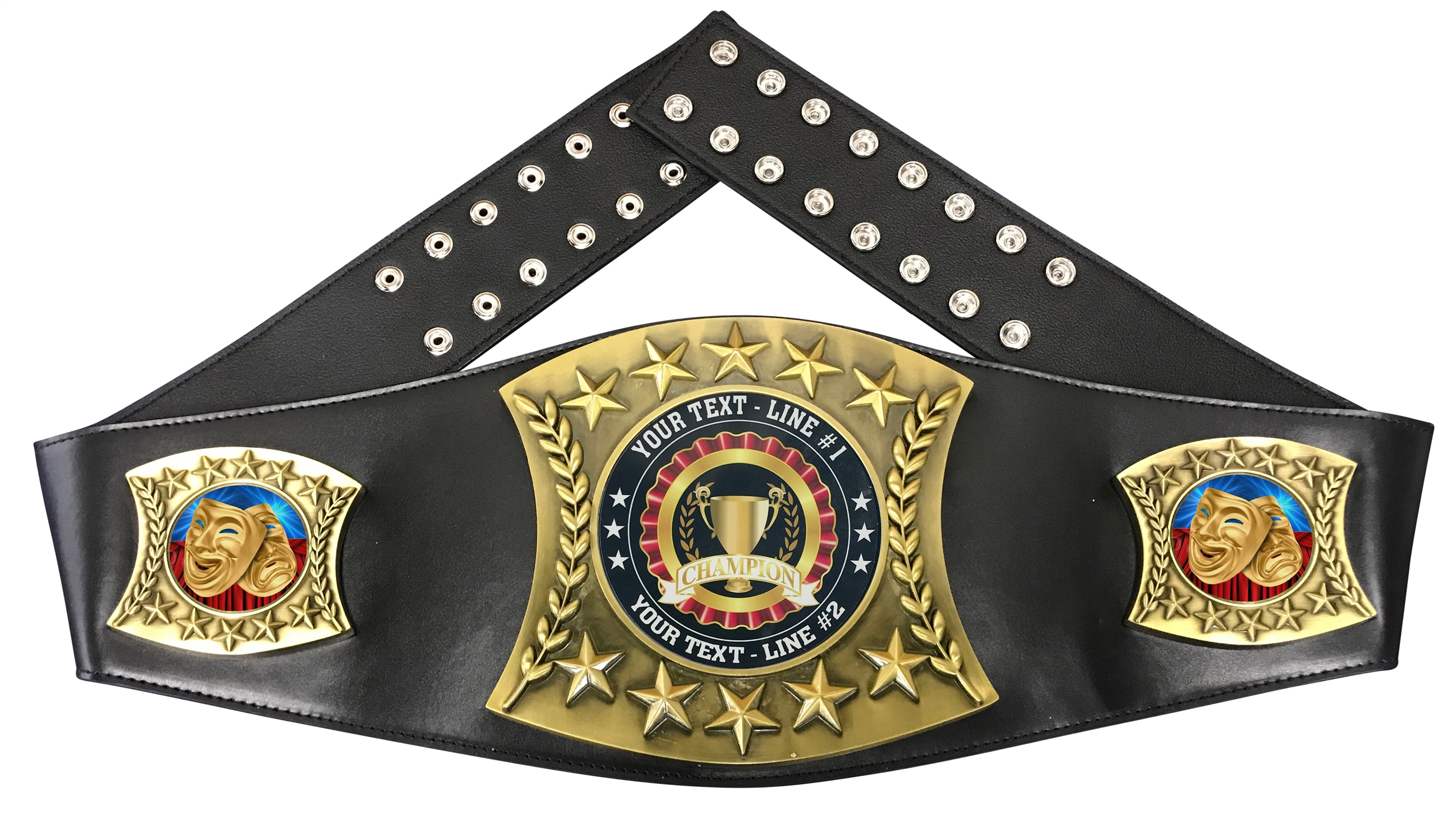 Drama Personalized Championship Leather Belt