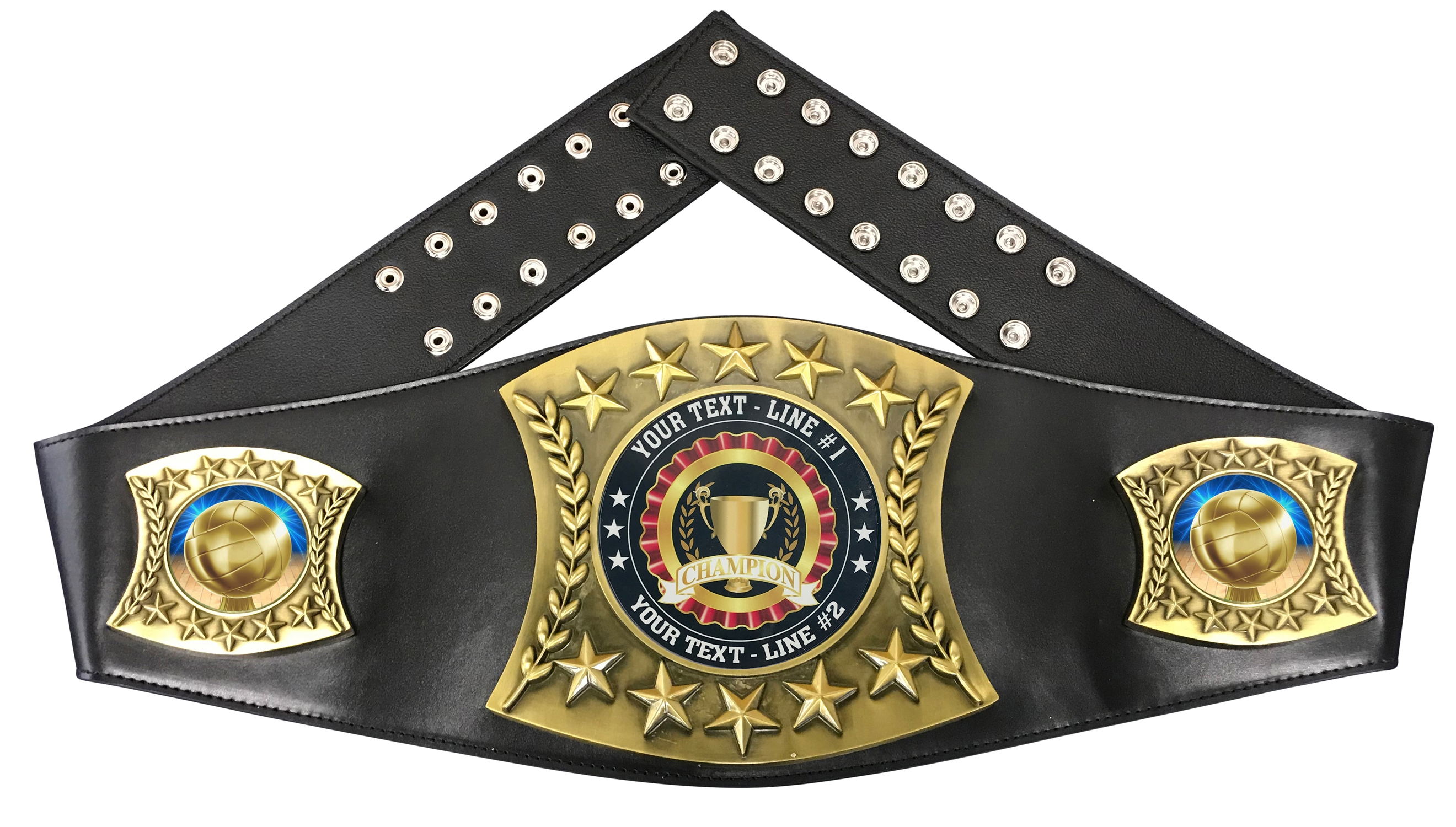 Volleyball Personalized Championship Leather Belt