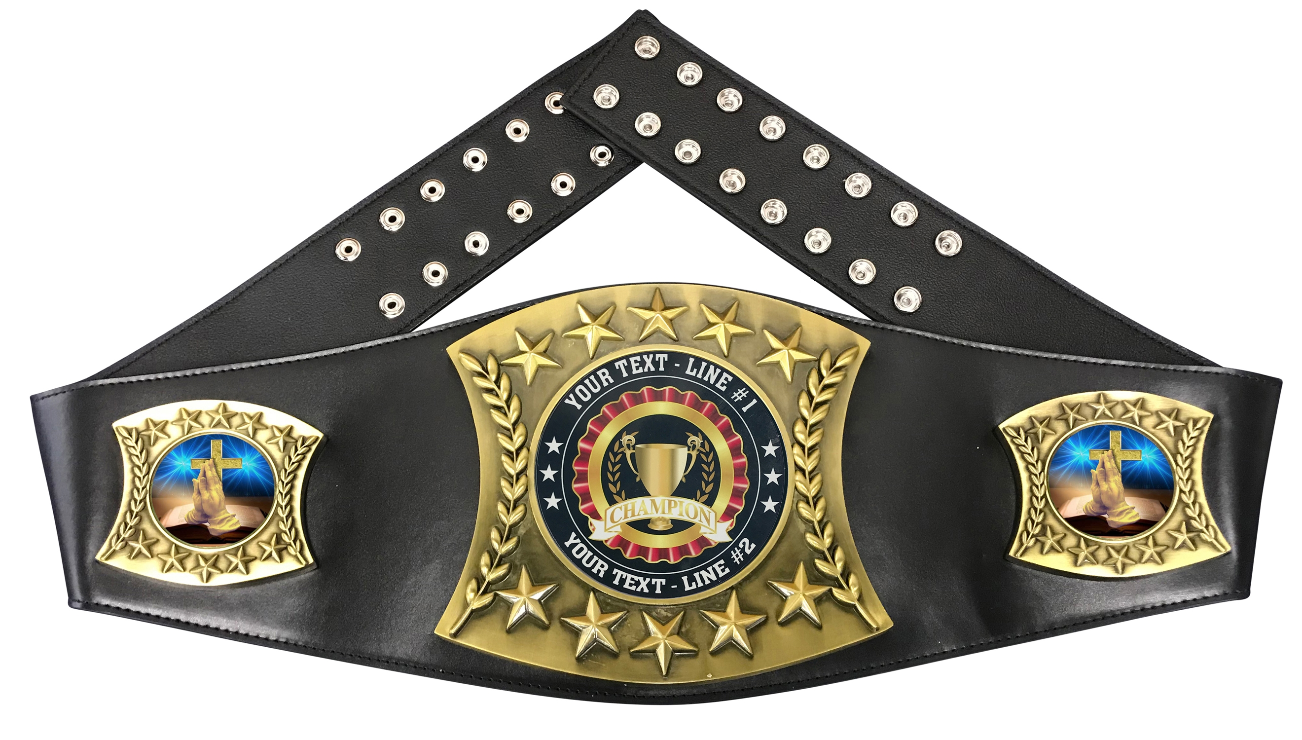 Religious Personalized Championship Leather Belt