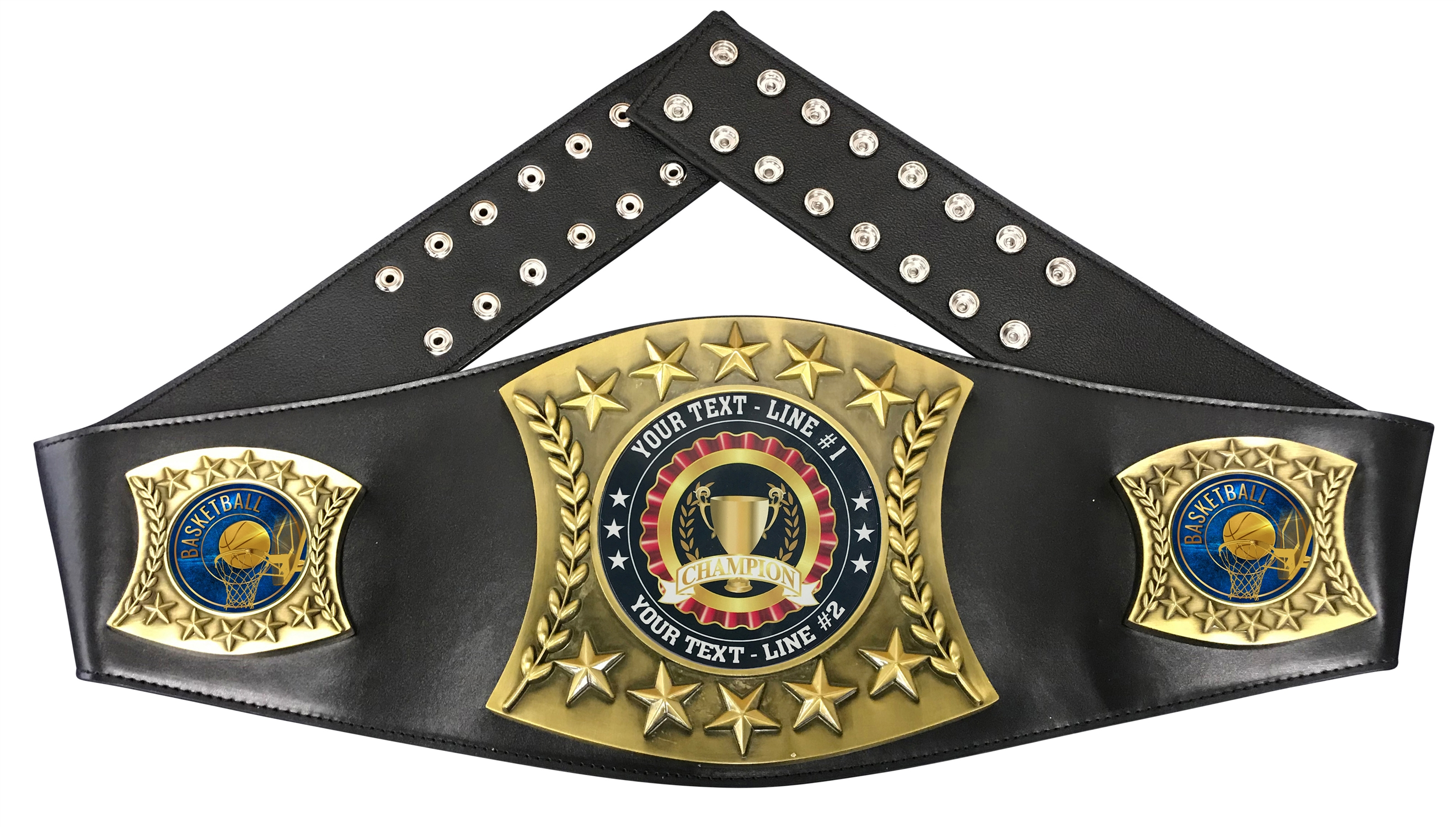 Basketball Personalized Championship Leather Belt