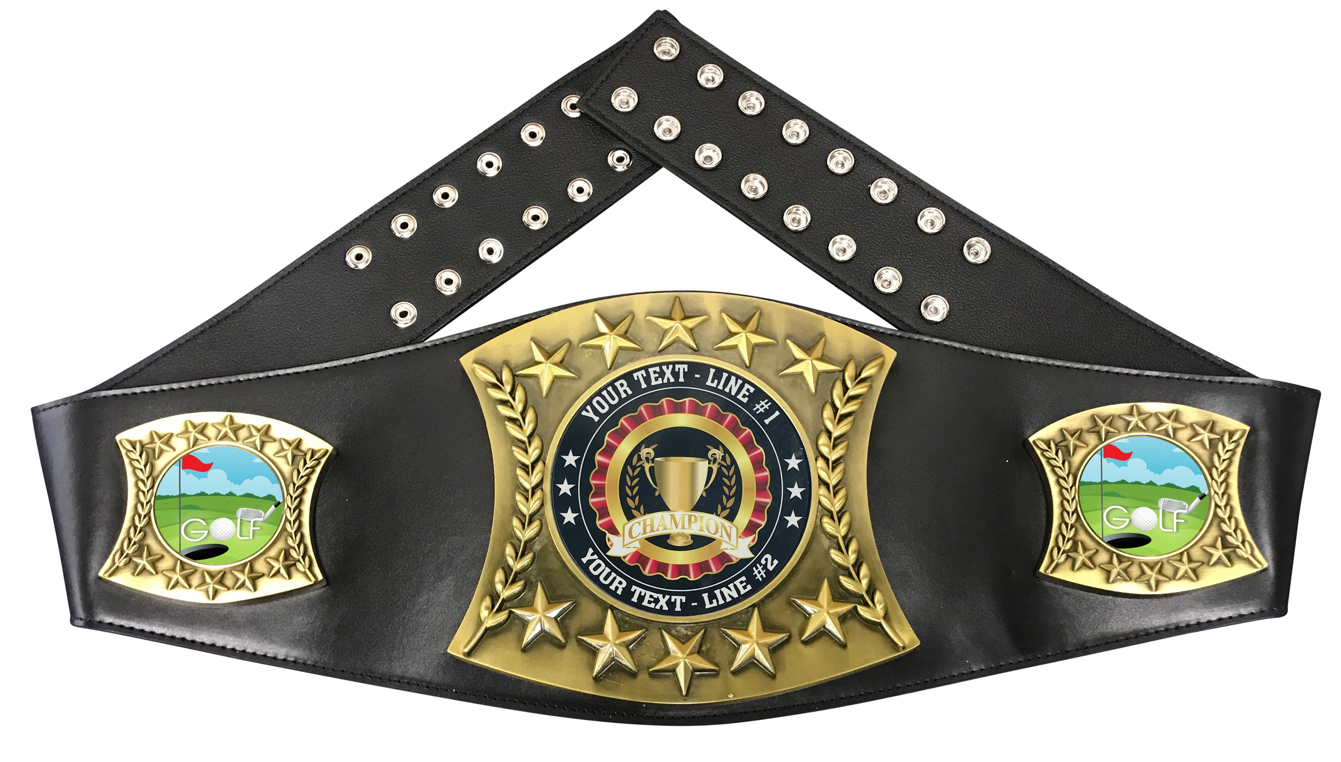 Golf Personalized Championship Leather Belt