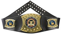 Bowling Personalized Championship Leather Belt