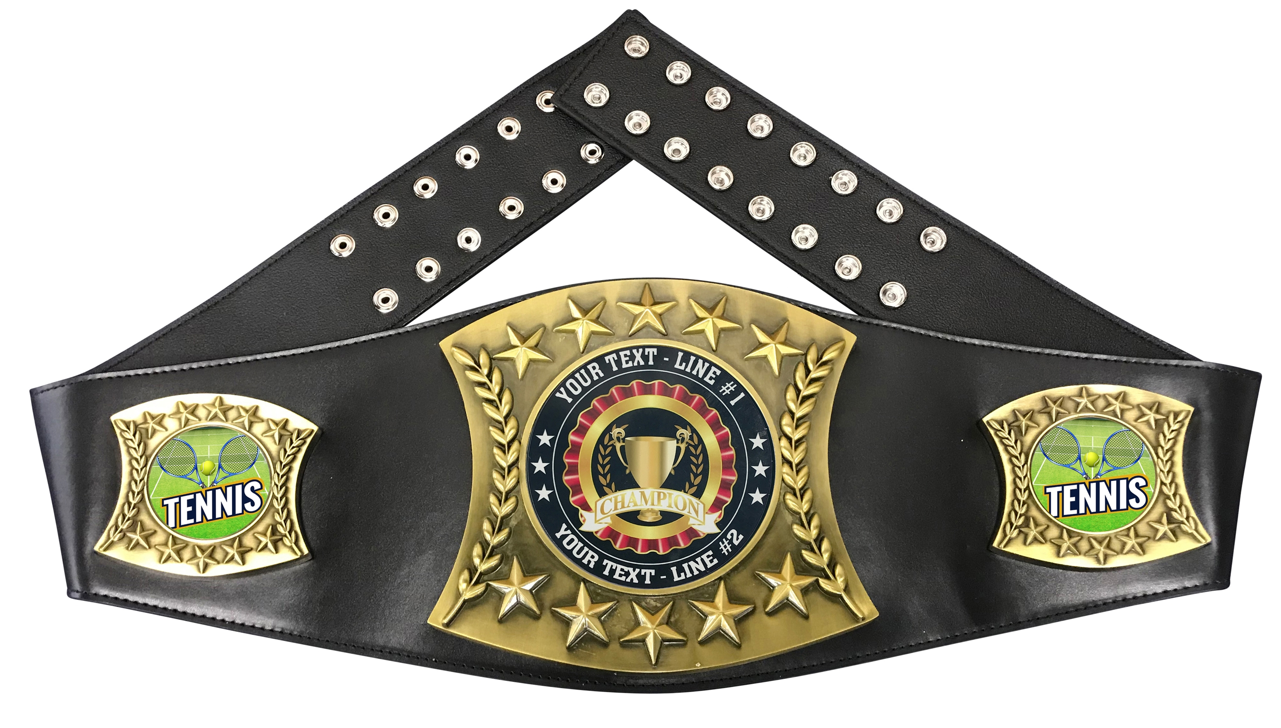 Tennis Personalized Championship Leather Belt