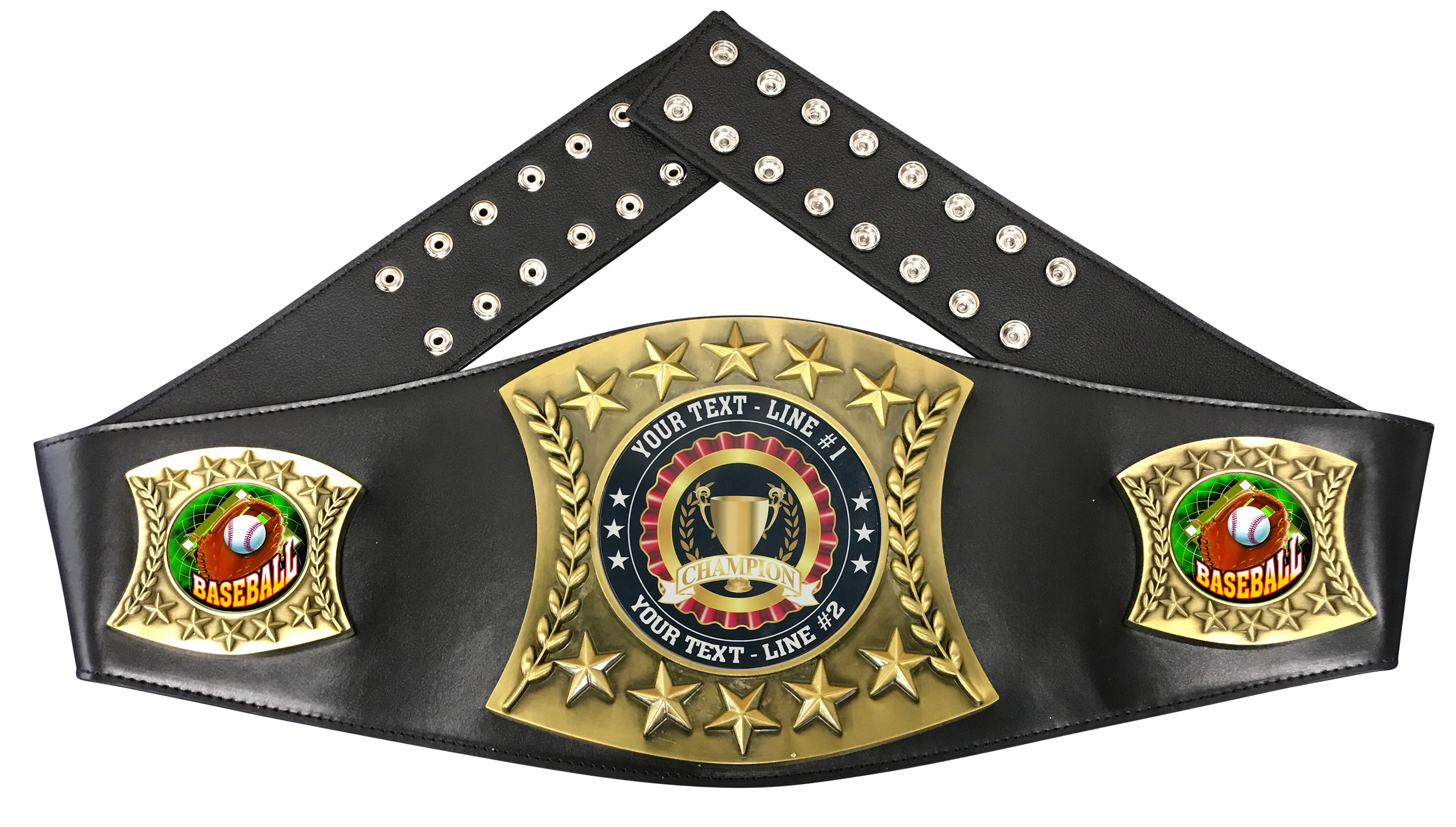 Baseball Personalized Championship Leather Belt