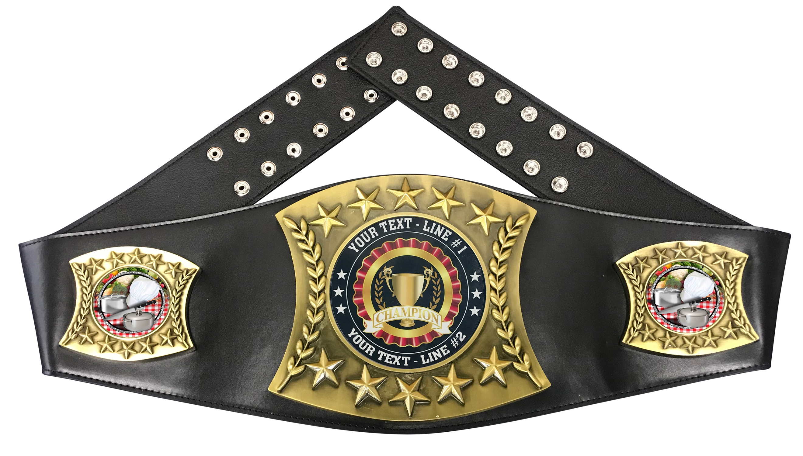 Chef Cooking Personalized Championship Belt