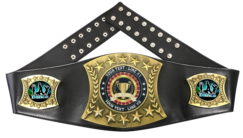 Modern Dance Personalized Championship Belt