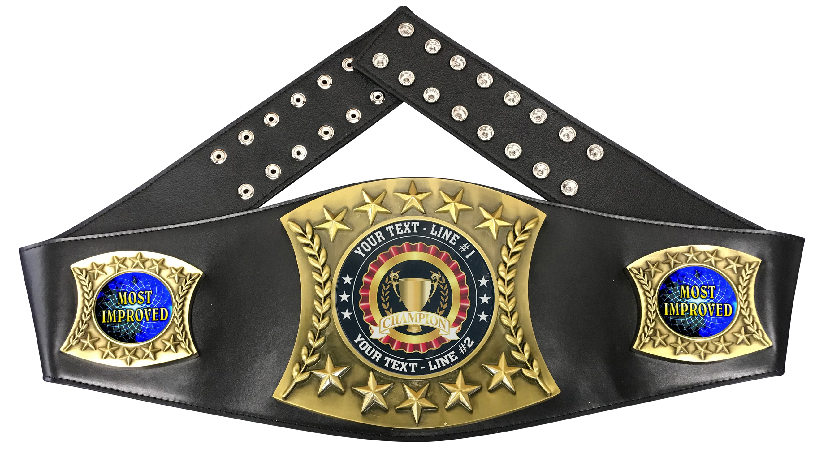 MIP Most Improved Personalized Championship Belt