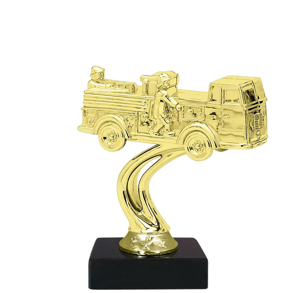 Firetruck Figure on Marble Base Trophy