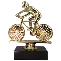 Female Cycling Figure on Marble Base Trophy