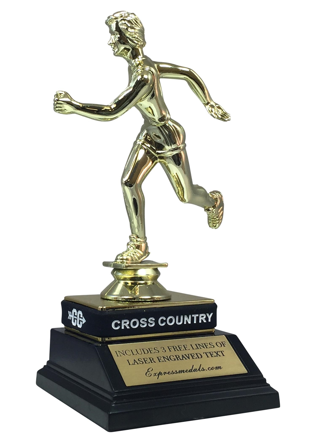 Female Cross Country Trophy with Wrist Band