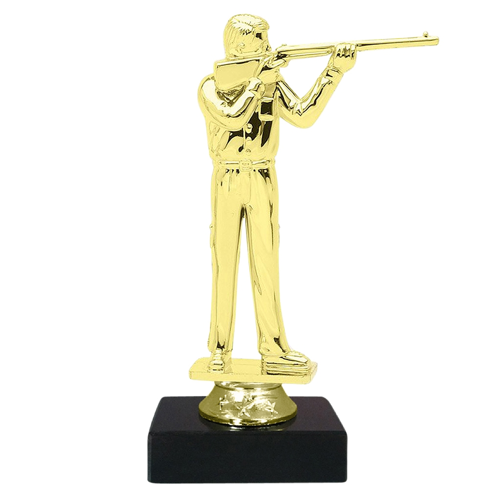 Rifleman Figure on Marble Base Trophy