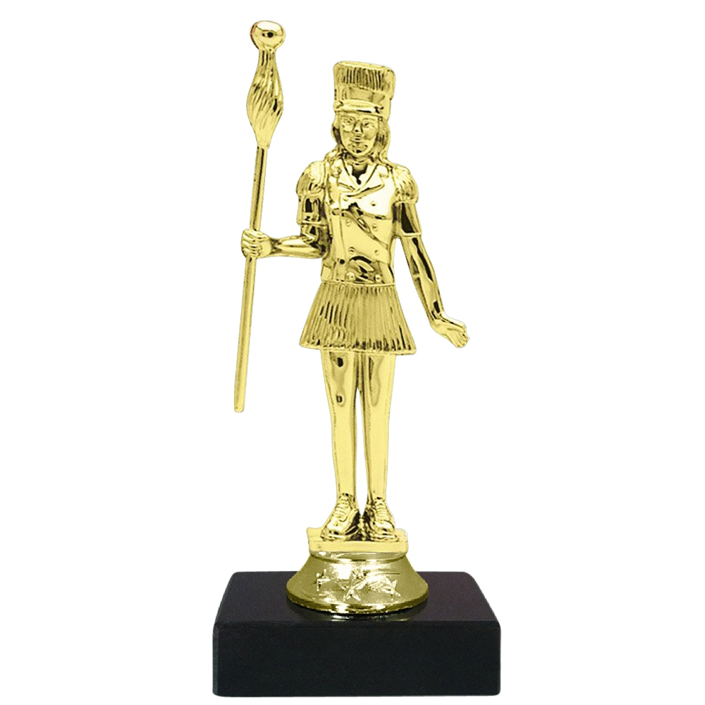 Marjorette Figure on Marble Base Trophy