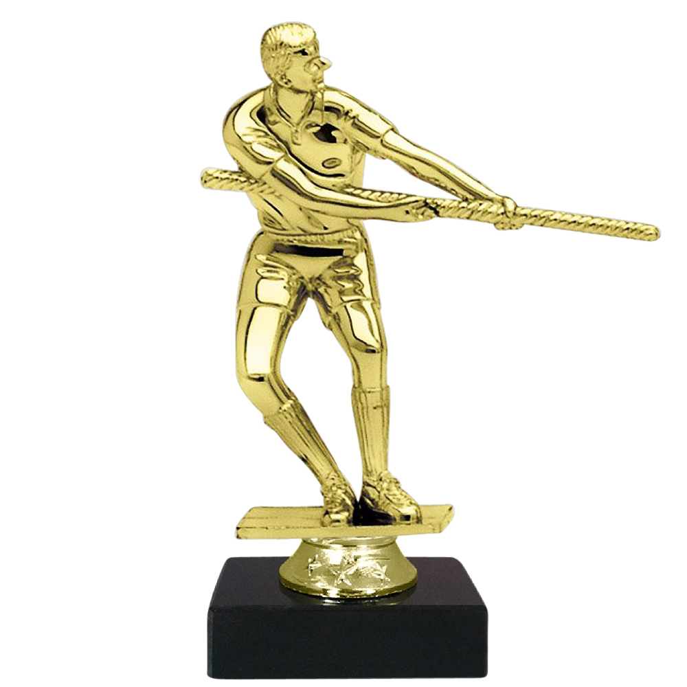 Tug of War Figure on Marble Base Trophy