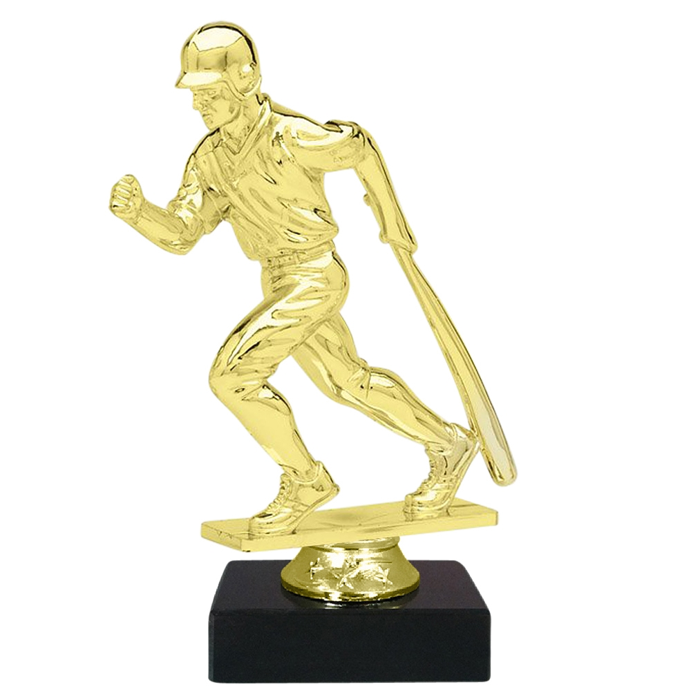 Male Baseball Figure on Marble Base Trophy