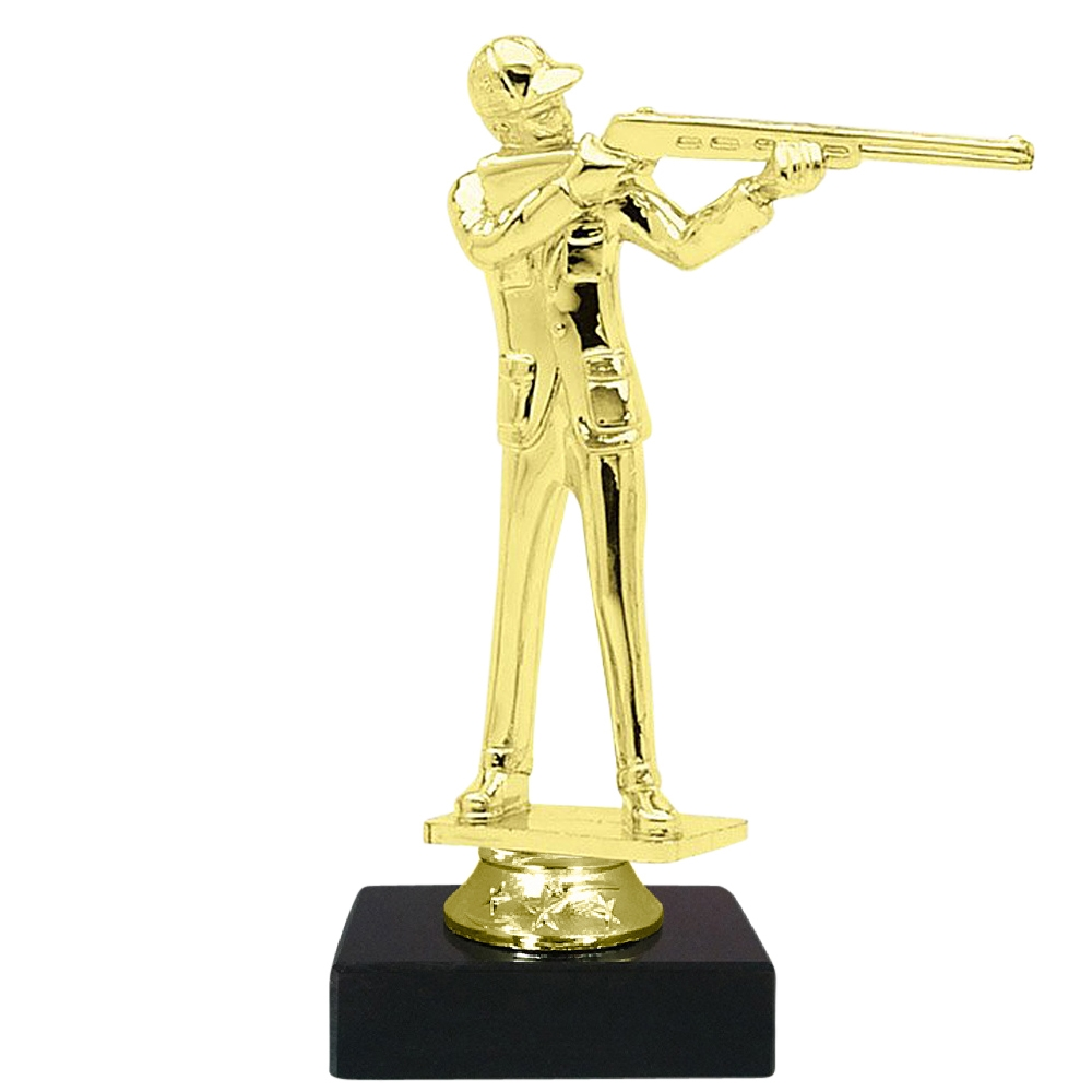 Trap Skeet Shooting Figure on Marble Base Trophy