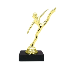 Dance Figure on Marble Base Trophy