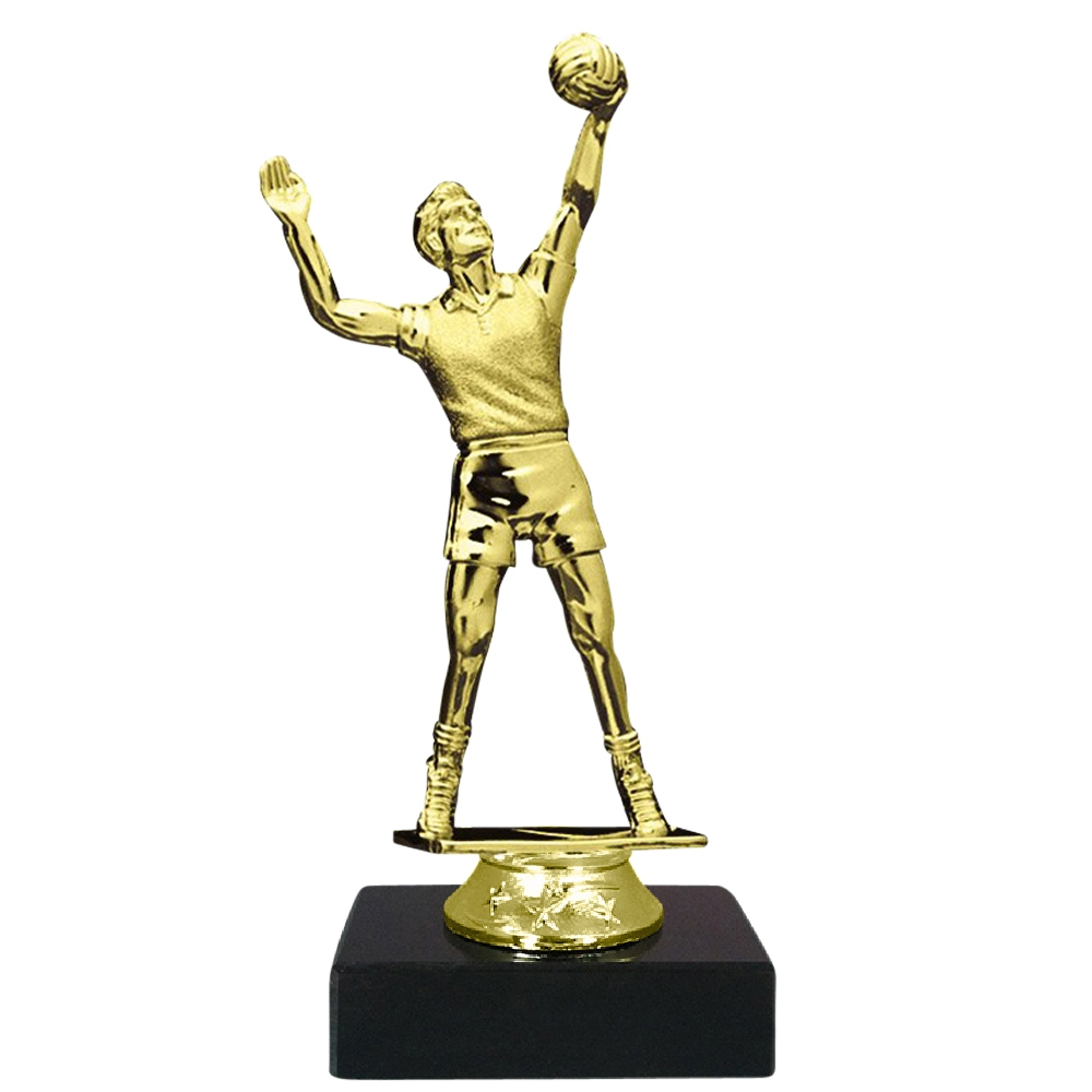 Male Volleyball Figure on Marble Base Trophy