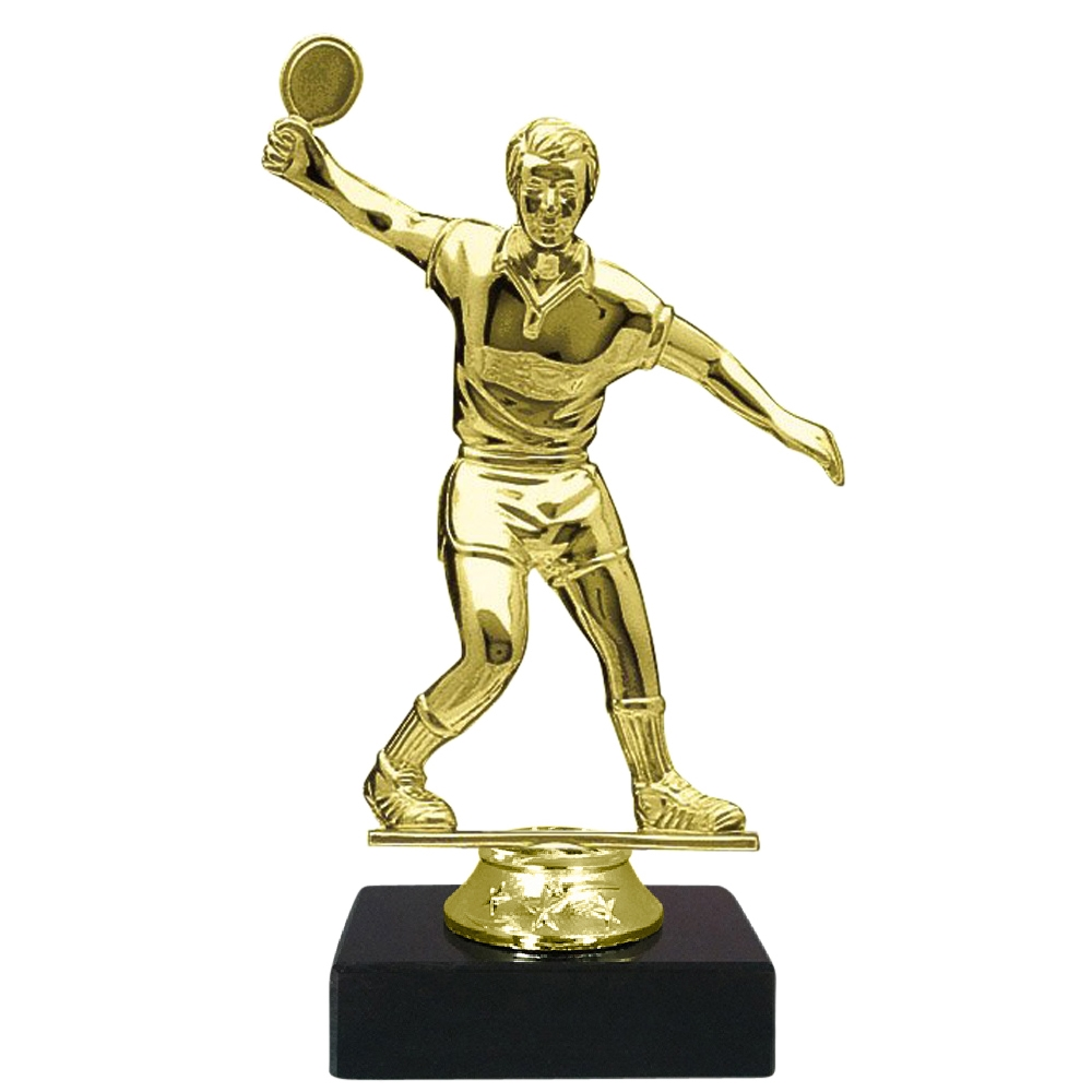 Male Table Tennis Figure on Marble Base Trophy