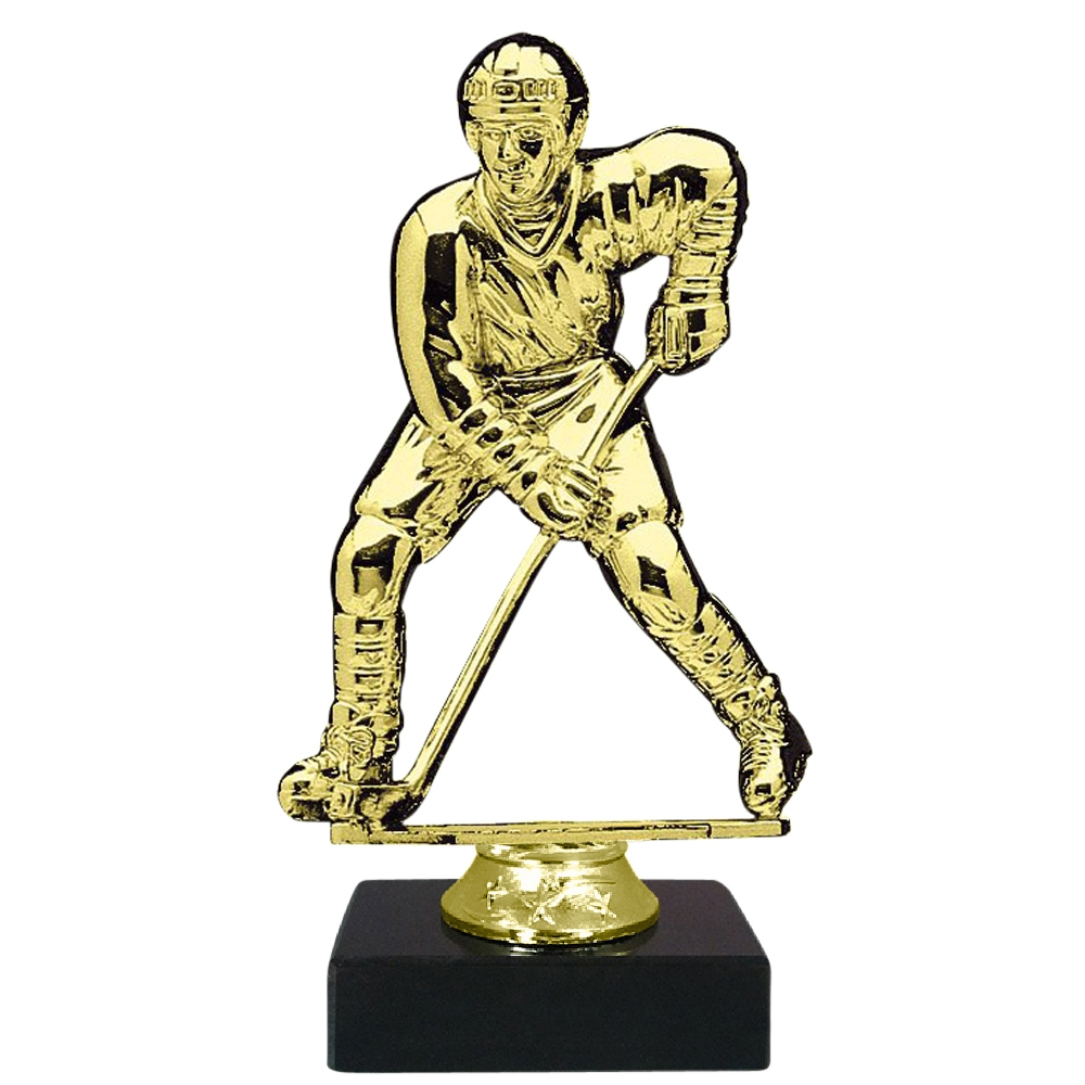 Male Hockey Figure on Marble Base Trophy