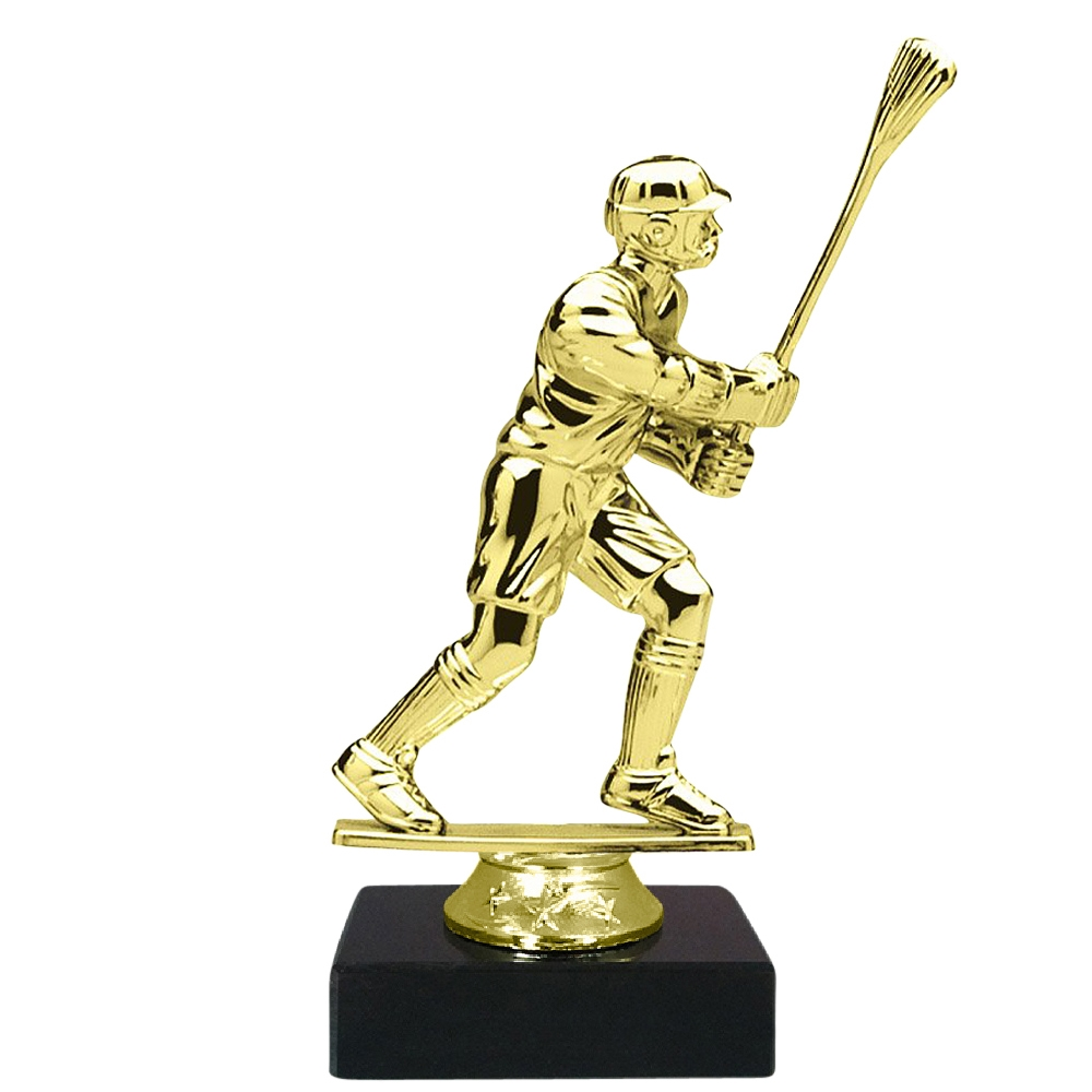 Male Lacrosse Figure on Marble Base Trophy