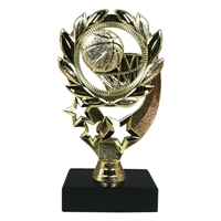 "6"" Basketball Sport Wreath on Marble Base Trophy"