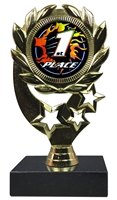 "6-1/4"" Blast 1st Place Sport Wreath Trophy"