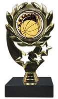 "6-1/4"" Elegance Basketball Insert Sport Wreath Trophy"