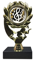 "6-1/4"" Elegance Music Insert Sport Wreath Trophy"