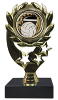 "6-1/4"" Elegance Volleyball Insert Sport Wreath Trophy"