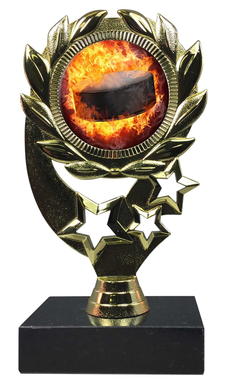 "6-1/4"" Blast Hockey Sport Wreath Trophy"