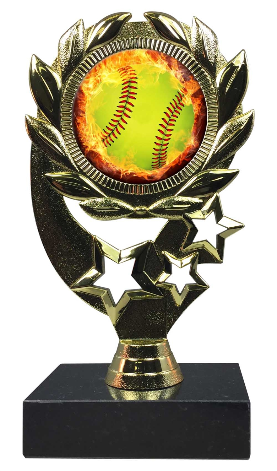 "6-1/4"" Blast Softball Sport Wreath Trophy"
