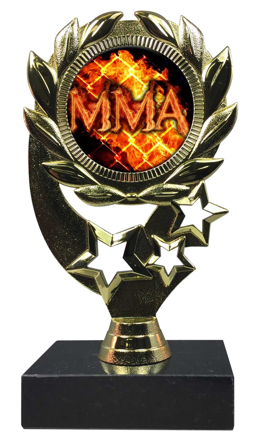 "6-1/4"" Blast MMA Sport Wreath Trophy"