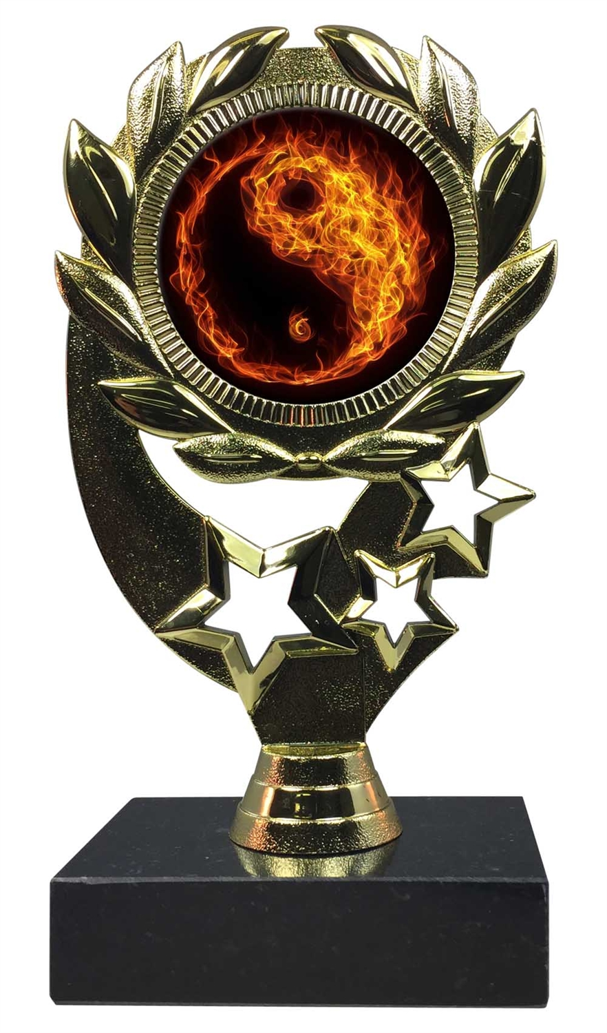 "6-1/4"" Blast Martial Arts Sport Wreath Trophy"