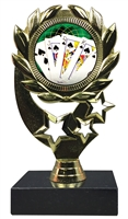 "6-1/4"" FCL Poker Insert Sport Wreath Trophy"