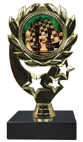 "6-1/4"" FCL Chess Insert Sport Wreath Trophy"