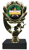 "6-1/4"" FCL Coach Insert Sport Wreath Trophy"