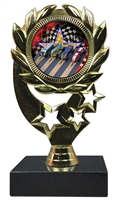 "6-1/4"" FCL Pinewood Derby Insert Sport Wreath Trophy"