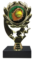 "6-1/4"" FCL Softball Insert Sport Wreath Trophy"