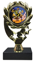 "6-1/4"" FCL Spelling Bee Insert Sport Wreath Trophy"