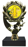"6-1/4"" FCL 4th Place Insert Sport Wreath Trophy"