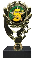 "6-1/4"" FCL 5th Place Insert Sport Wreath Trophy"