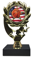 "6-1/4"" Flag Basketball Insert Sport Wreath Trophy"