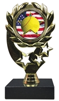 "6-1/4"" Flag Tennis Insert Sport Wreath Trophy"