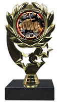 "6-1/4"" Burst Martial Arts Insert Sport Wreath Trophy"
