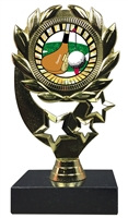"6-1/4"" Sunburst Golf Insert Sport Wreath Trophy"