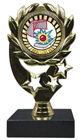 "6-1/4"" Sunburst Street Hockey Insert Sport Wreath Trophy"