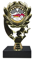 "6-1/4"" Sunburst Pinewood Derby Insert Sport Wreath Trophy"