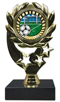 "6-1/4"" Sunburst Soccer Insert Sport Wreath Trophy"