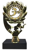 "6-1/4"" Sunburst 3rd Place Insert Sport Wreath Trophy"