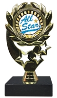 "6-1/4"" Sunburst All Star Insert Sport Wreath Trophy"